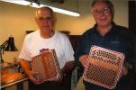Ambrose Kodet and Bob Novak with engraved endcaps.